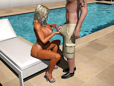 Huge breasted 3d blonde..