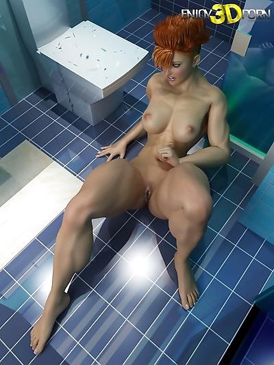 Nude redheaded bodybuilder..