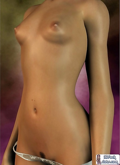 Tiny tits toon girl topless - part 2